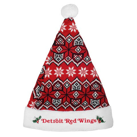 Detroit Red Wings Knit Santa Hat