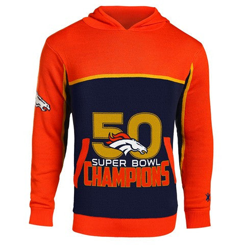 Denver Broncos Official NFL Super Bowl Pullover Acrylic Hoody
