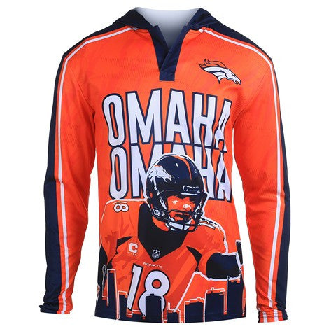 Denver Broncos Manning P. #18 Official NFL Polyester Player Hoody Tee
