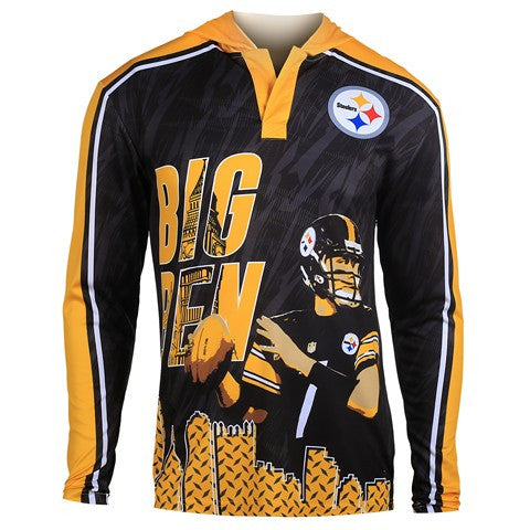Pittsburgh Steelers Roethlisberger B. #7 Official NFL Polyester Player Hoody Tee