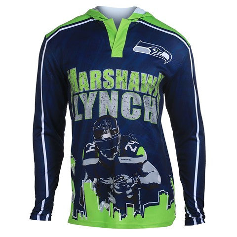 Seattle Seahawks Lynch M. #24 Official NFL Polyester Player Hoody Tee