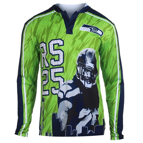 Seattle Seahawks Sherman R. #25 Official NFL Polyester Player Hoody Tee