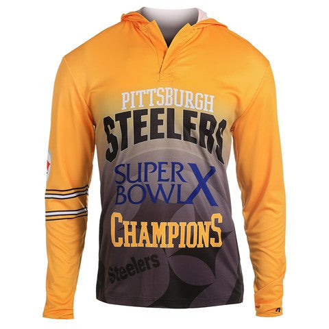 Pittsburgh Steelers Super Bowl X Official NFL Champions Poly Hoody Tee