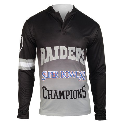 Oakland Raiders Super Bowl Xi Official NFL Champions Poly Hoody Tee