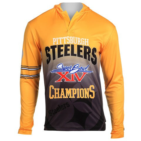 Pittsburgh Steelers Super Bowl Xiv Official NFL Champions Poly Hoody Tee