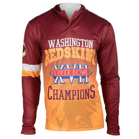 Washington Redskins Super Bowl Xvii Official NFL Champions Poly Hoody Tee