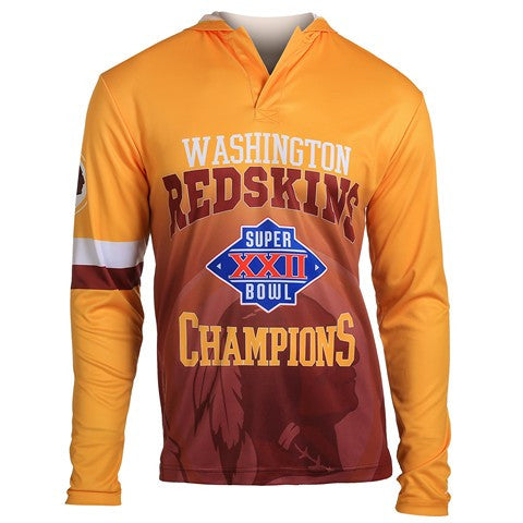Washington Redskins Super Bowl Xxii Official NFL Champions Poly Hoody Tee