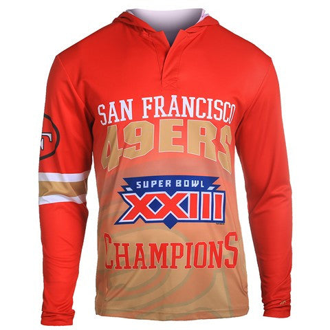San Francisco 49Ers Super Bowl Xxiii Official NFL Champions Poly Hoody Tee