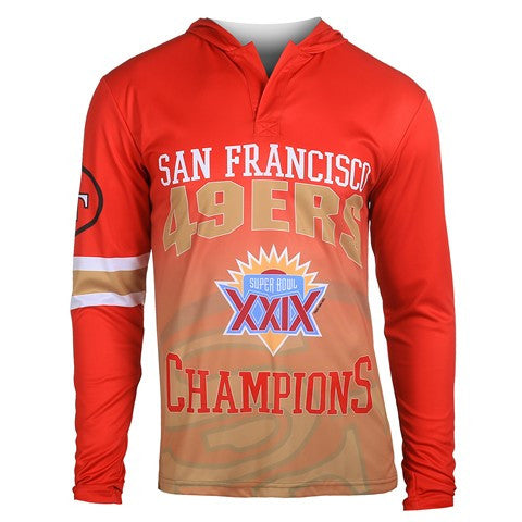 San Francisco 49Ers Super Bowl Xxix Official NFL Champions Poly Hoody Tee