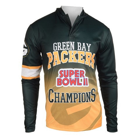 Green Bay Packers Super Bowl Ii Official NFL Champions Poly Hoody Tee