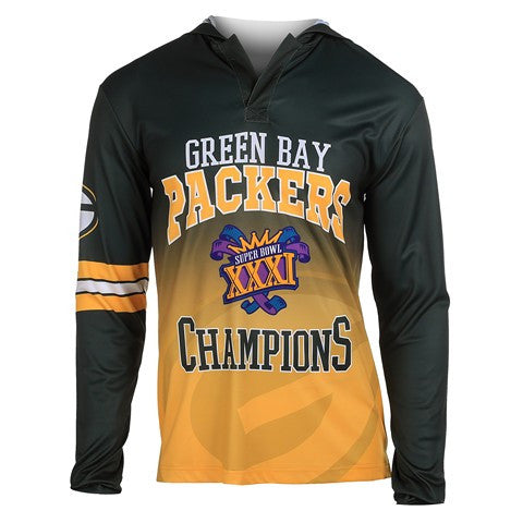 Green Bay Packers Super Bowl Xxxi Official NFL Champions Poly Hoody Tee