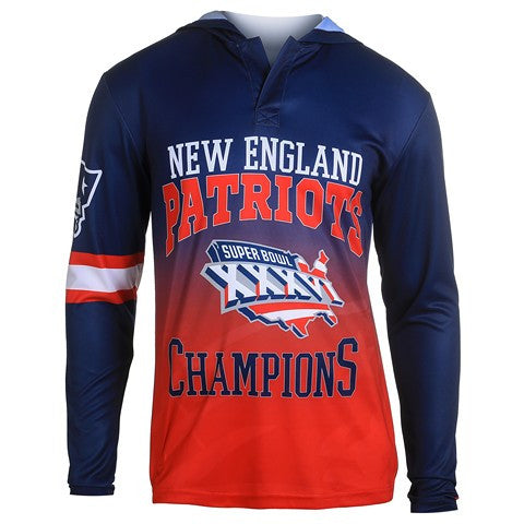 New England Patriots Super Bowl Xxxvi Official NFL Champions Poly Hoody Tee