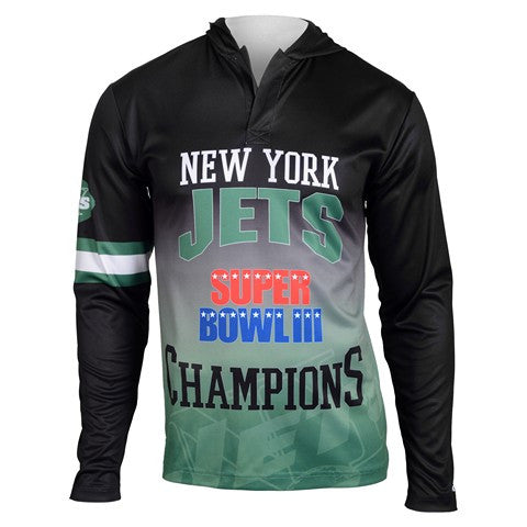 New York Jets Super Bowl Iii Official NFL Champions Poly Hoody Tee