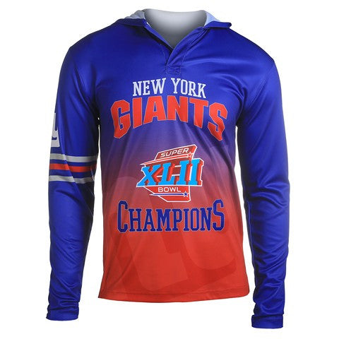 New York Giants Super Bowl Xlii Official NFL Champions Poly Hoody Tee