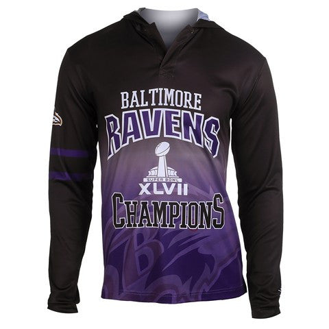 Baltimore Ravens Super Bowl Xlvii Official NFL Champions Poly Hoody Tee