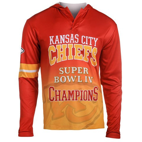 Kansas City Chiefs Super Bowl Iv Official NFL Champions Poly Hoody Tee