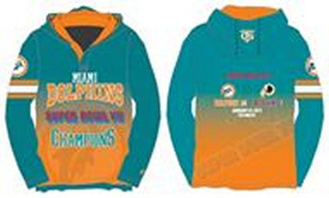 Miami Dolphins Super Bowl Vii Official NFL Champions Poly Hoody Tee