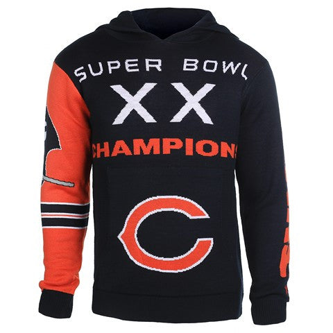 Chicago Bears Official NFL Super Bowl Commemorative Acrylic Hoody