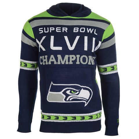 Seattle Seahawks Official NFL Super Bowl Commemorative Acrylic Hoody
