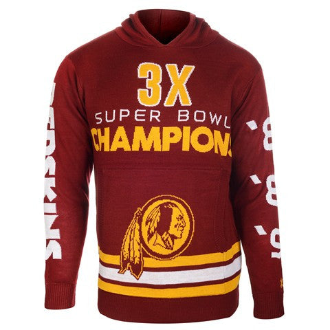 Washington Redskins Official NFL Super Bowl Commemorative Acrylic Hoody
