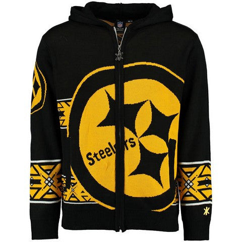 Pittsburgh Steelers Official NFL Full Zip Hooded Sweatshirt