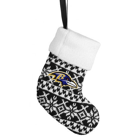 Baltimore Ravens NFL Official Knit Stocking Ornament