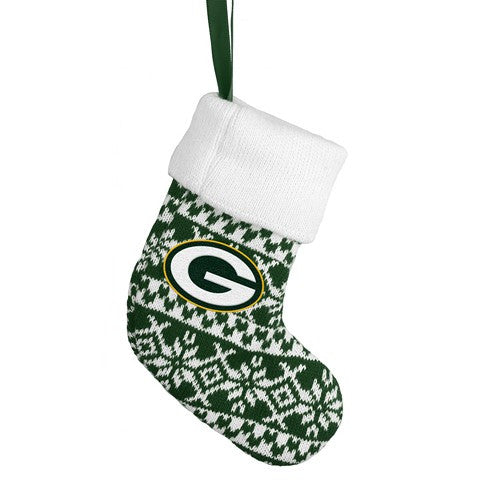 Green Bay Packers NFL Official Knit Stocking Ornament