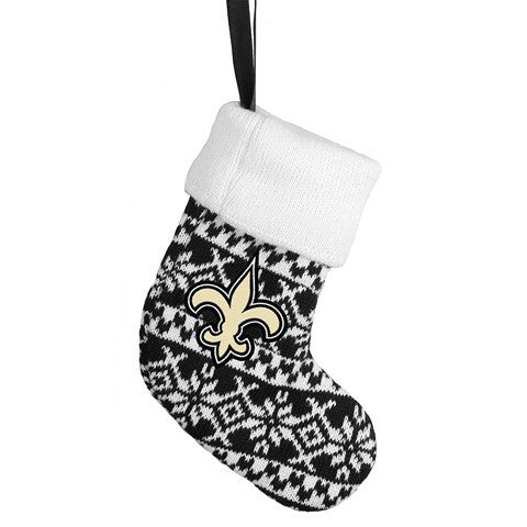 New Orleans Saints NFL Official Knit Stocking Ornament