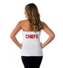 "Kansas City Chiefs Women's Official NFL ""Blown Coverage"" White Halter"