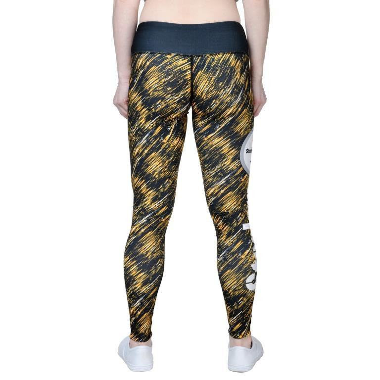 Pittsburgh Steelers Official NFL Static Rain Leggings - Womens