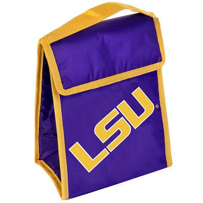 LSU Tigers Official NCAA Big Logo Velcro Lunch Bag