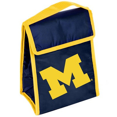 Michigan Wolverines Official NCAA Big Logo Velcro Lunch Bag