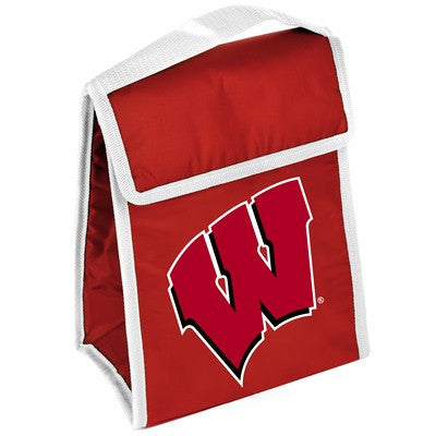 Wisconsin Badgers Official NCAA Big Logo Velcro Lunch Bag