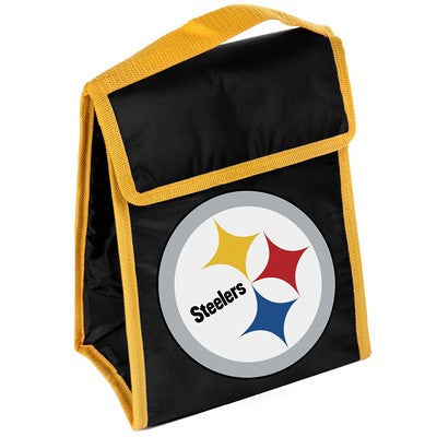 Pittsburgh Steelers Official NFL Big Logo Velcro Lunch Bag
