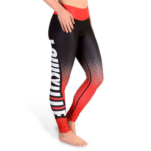 Louisville Cardinals Womens Official NCAA Gradient Print Leggings