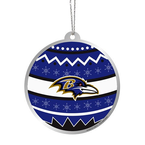 Baltimore Ravens Official NFL Metal Ornate Ball Ornament