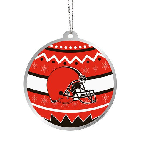 Cleveland Browns Official NFL Metal Ornate Ball Ornament