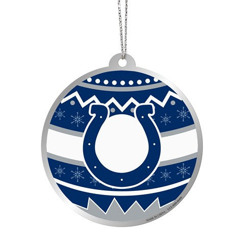 Indianapolis Colts Official NFL Metal Ornate Ball Ornament