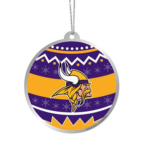 Minnesota Vikings Official NFL Metal Ornate Ball Ornament