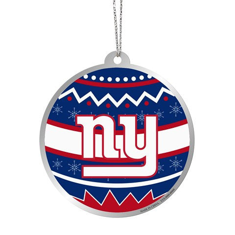 New York Giants Official NFL Metal Ornate Ball Ornament