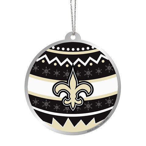 New Orleans Saints Official NFL Metal Ornate Ball Ornament