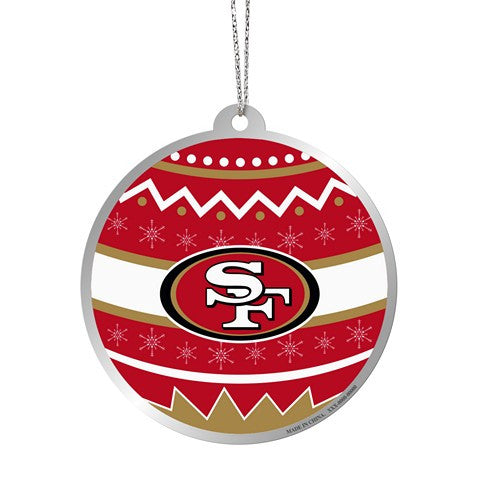 San Francisco 49Ers Official NFL Metal Ornate Ball Ornament