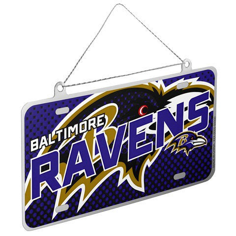 Baltimore Ravens Official NFL 2015 Metal License Plate Ornament