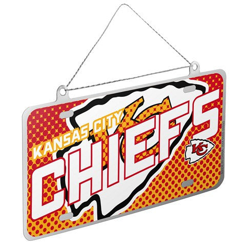 Kansas City Chiefs Official NFL 2015 Metal License Plate Ornament