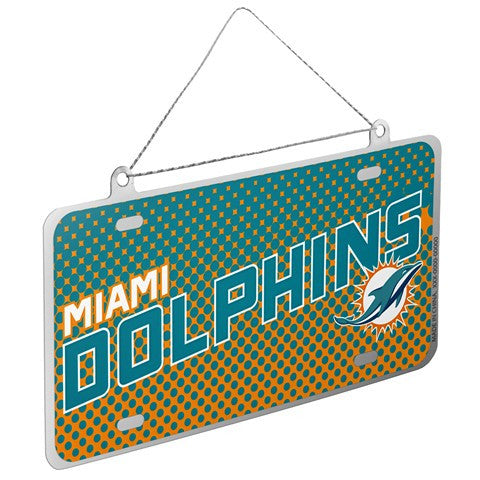 Miami Dolphins Official NFL 2015 Metal License Plate Ornament