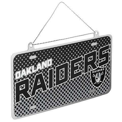 Oakland Raiders Official NFL 2015 Metal License Plate Ornament