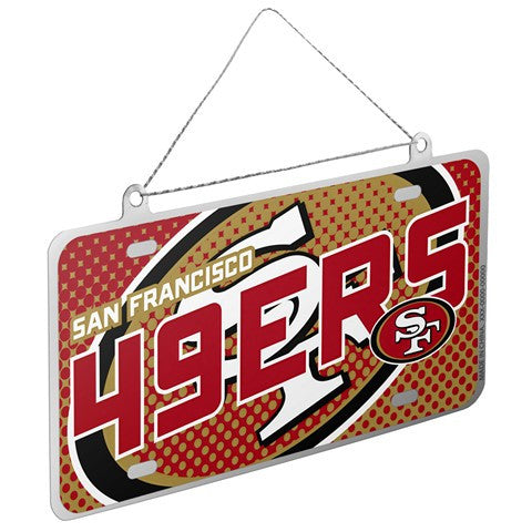 San Francisco 49Ers Official NFL 2015 Metal License Plate Ornament