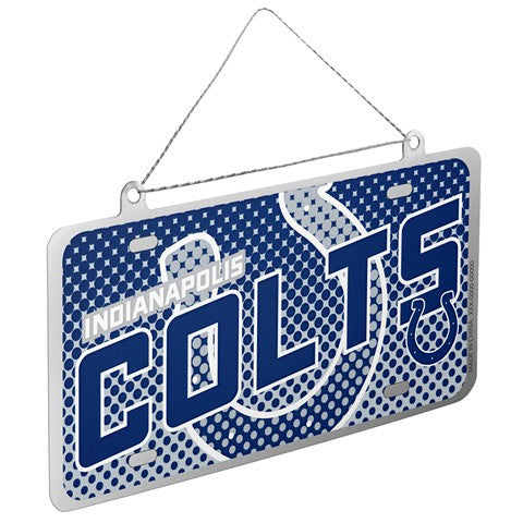 Indianapolis Colts Official NFL 2015 Metal License Plate Ornament
