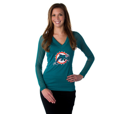"Miami Dolphins Women's Official NFL ""Wildkat Aqua Top"