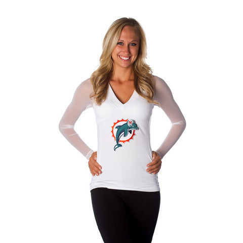 "Miami Dolphins Women's Official NFL ""Wildkat"" Top White"